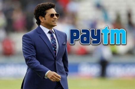 Sachin Tendulkar comes on Paytm board