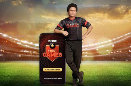 Tendulkar confirmed as Paytm First Games brand ambassador