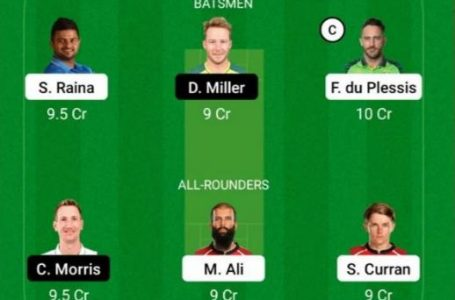 IPL 2021: CSK Vs RR Dream11 Prediction, Fantasy Playing XI