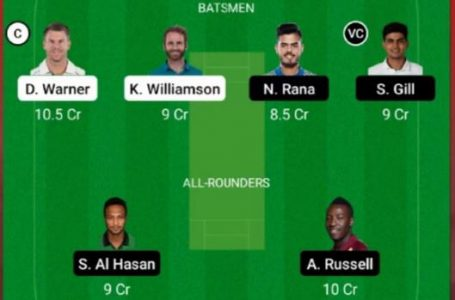 SRH Vs KKR Dream11 Prediction, Fantasy Playing XI